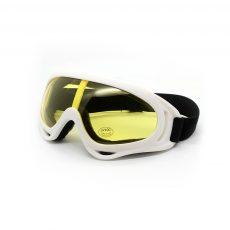 Горнолыжная маска белая с желтыми стеклами