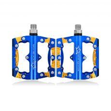 синие педали из алюминия
