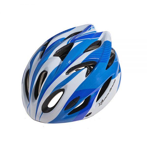 Голубой велошлем