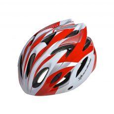 Красно белый велошлем